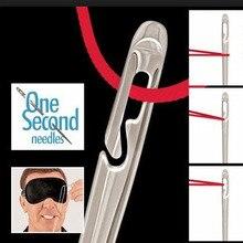 Aiguille aveugle en acier inoxydable couture   Aiguille pour personnes âgées, trou latéral, couture inutile, filetage à la main, couture ménager 12 pièces/ensemble