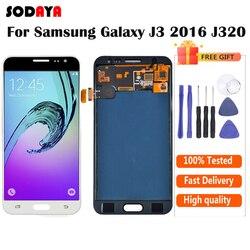 Para samsung galaxy j3 2016 j320 j320a j320f j320m j320fn display lcd + tela de toque digitador assembléia não pode adjustbrilho