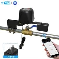 Smart Life     vanne WiFi Tuya pour maison connectee  controle dautomatisation de leau et du gaz  fonctionne avec Alexa et Google Assistant