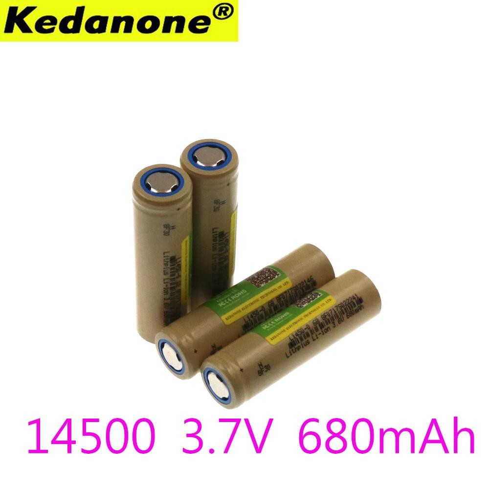 Плоский Kedanone 14500 аккумулятор US14500 14500 680 mAh 3,7 v перезаряжаемые литий-ионные батареи led lampe de poche Batterie