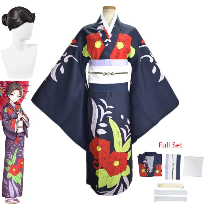 Anime Demon Slayer Kimetsu no Yaiba Tamayo Cosplay Costume Women Kimono Uniform Halloween Christmas