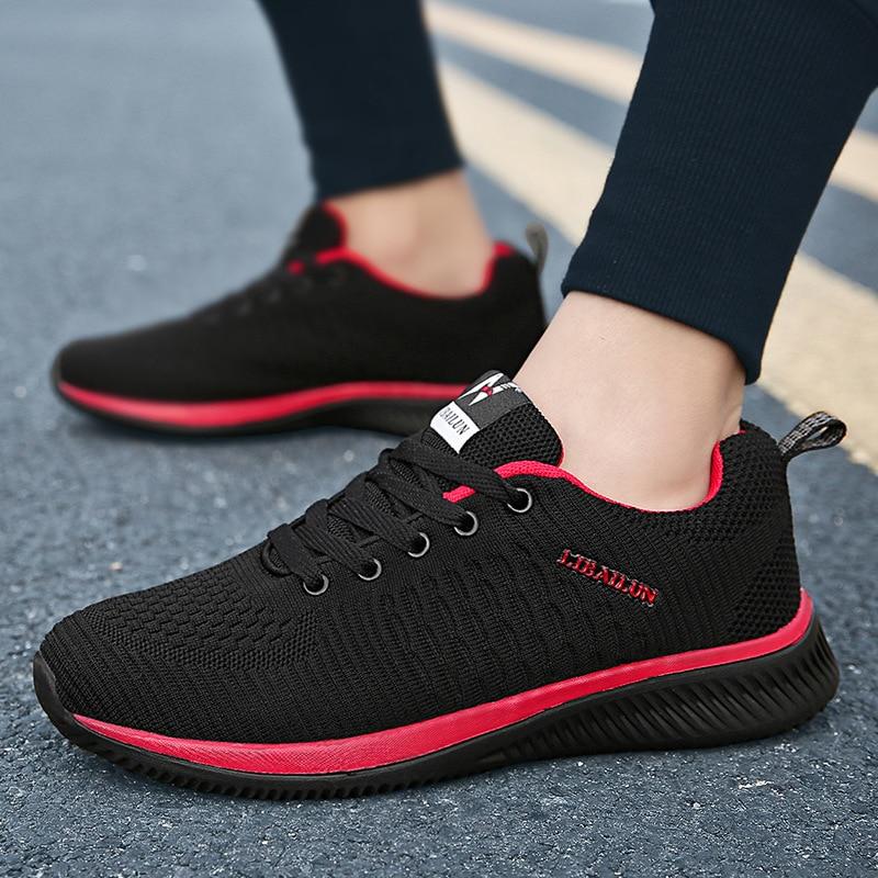 XEK Nova Malha Homens Sapatos Casuais Lac-up Homens Sapatos Leves Confortáveis sapatos de Caminhada Respirável Tênis Zapatillas Hombre YYJ145