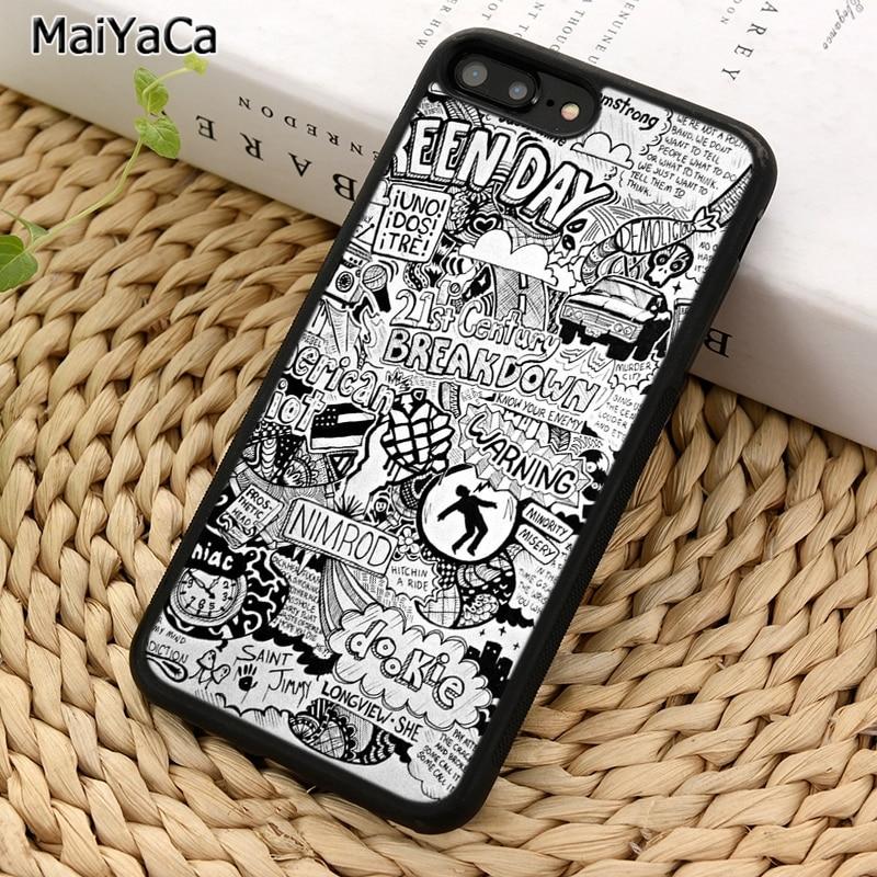 MaiYaCa verde Día de la banda de Rock de la caja del teléfono para iPhone 5 5 S 6 S 7 8 plus 11 Pro X XR XS Max Samsung Galaxy S6 S7 S8 S9 S10 plus