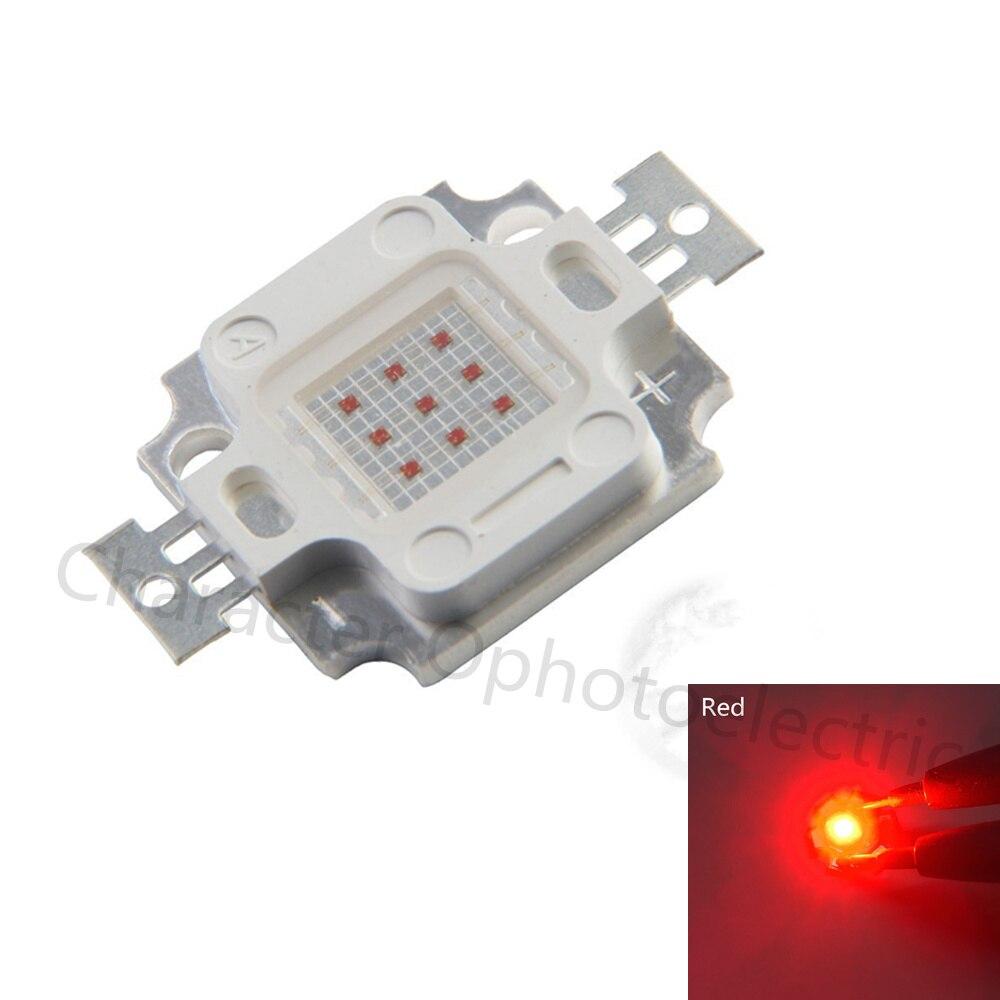 10pcs 10W 900mA Integrado LED de Alta potência da Luz VERMELHA Red 620-625nm 6.0-7.0V 300-400LM 32 * 32mil EPILEDS Chip Frete grátis