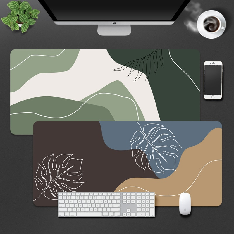 Цветной коврик для мыши в скандинавском стиле Morandi, коврик для компьютерной клавиатуры и мыши, большого размера, 1 шт.