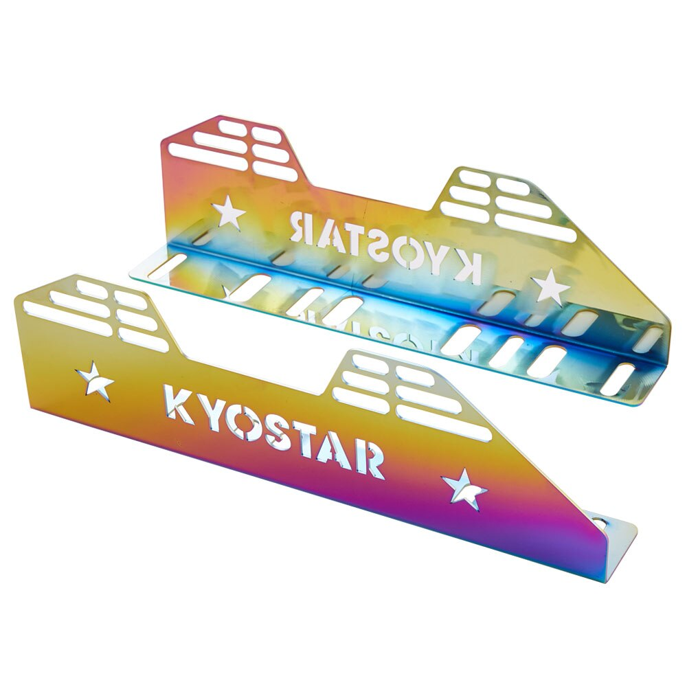 Kyostar Universal Neo Chrome carreras lateral de asiento de montaje para novia Recaro Sparco OMP asiento