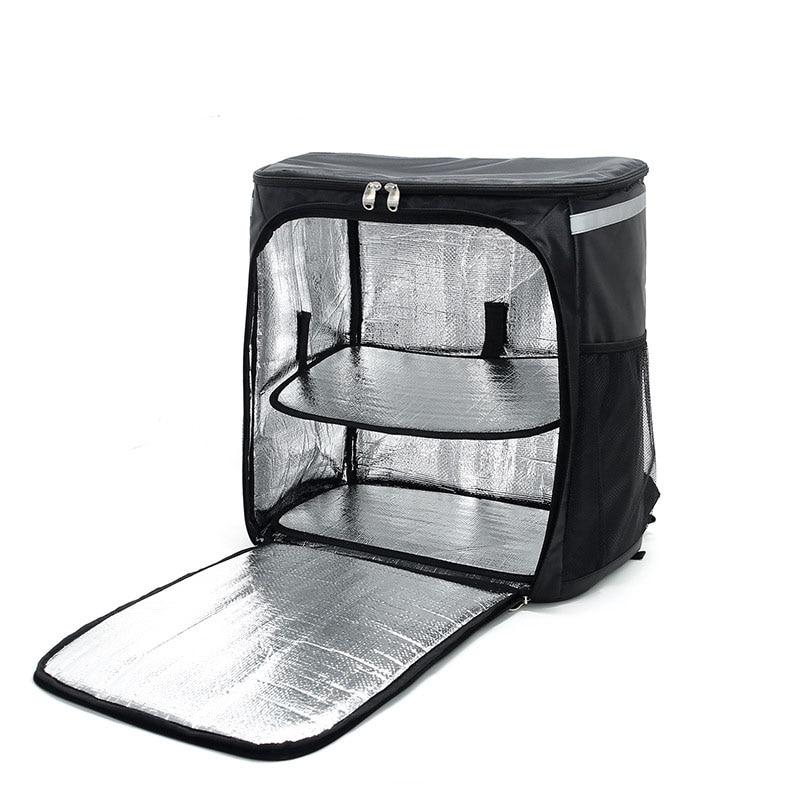 حقيبة ظهر كبيرة لحمل البيتزا ، معزولة ، مقاومة للماء ، حرارية ، توصيل الطعام ، للمطعم
