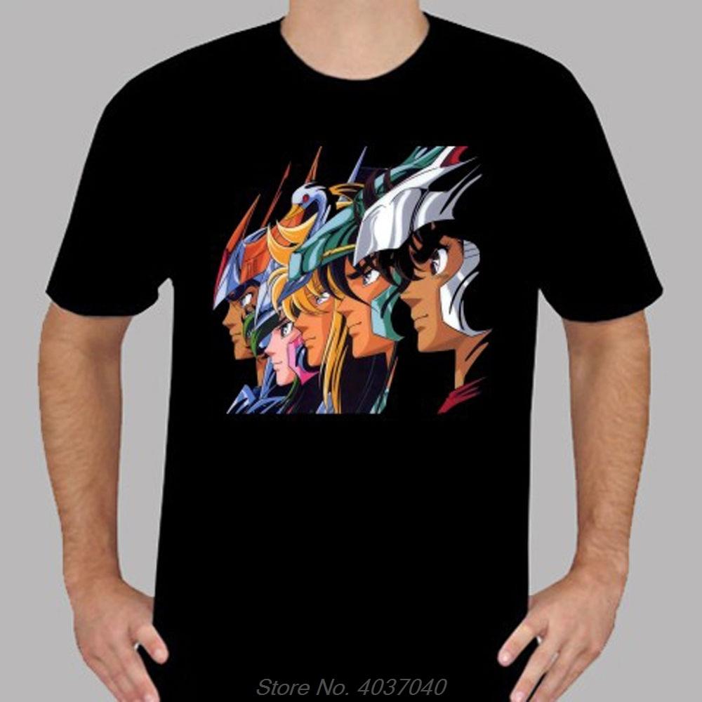 Nuevo Saint Seiya * Pegasus Phoenix Retro Cartoon para hombre Camiseta negra gran oferta nueva camiseta de algodón para Hombre Camisetas Harajuku