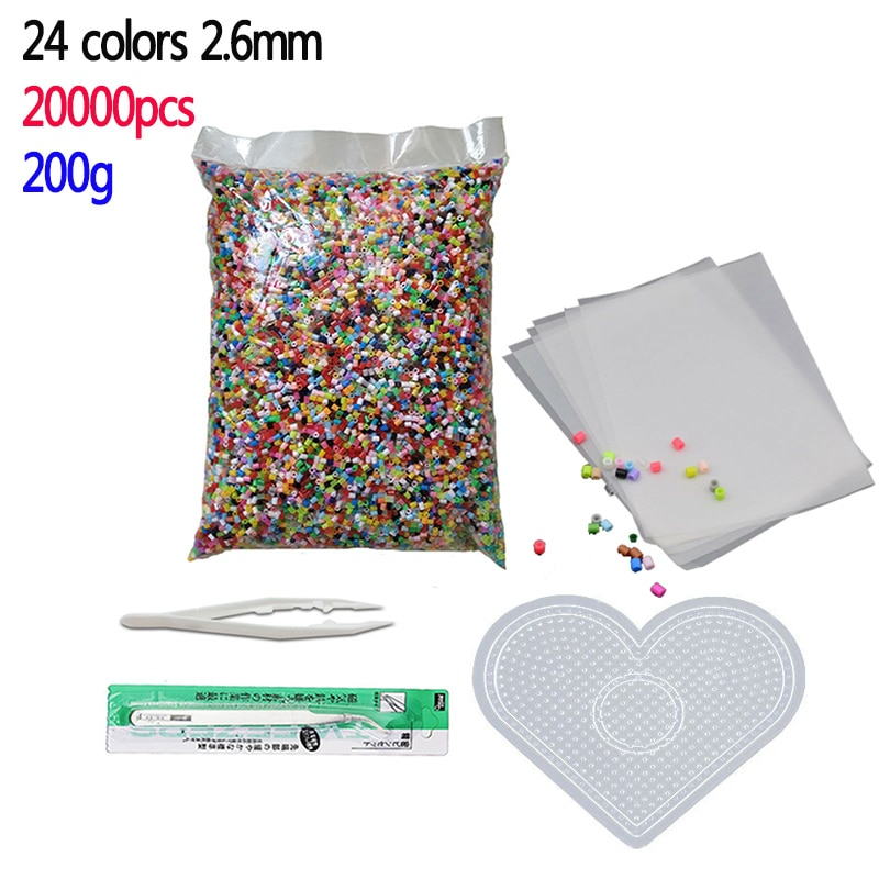 3000pcs bag water stick diy magic beads ball aqua jouets perler pegboard hama pixels magic beads jigsaw puzzle educational toy 24 colors 20000pcs/bag Perler Beads Kit 2.6mm Hama beads Whole Set with Pegboard and Iron 3D Puzzle DIY Toy Craft Toy Gift