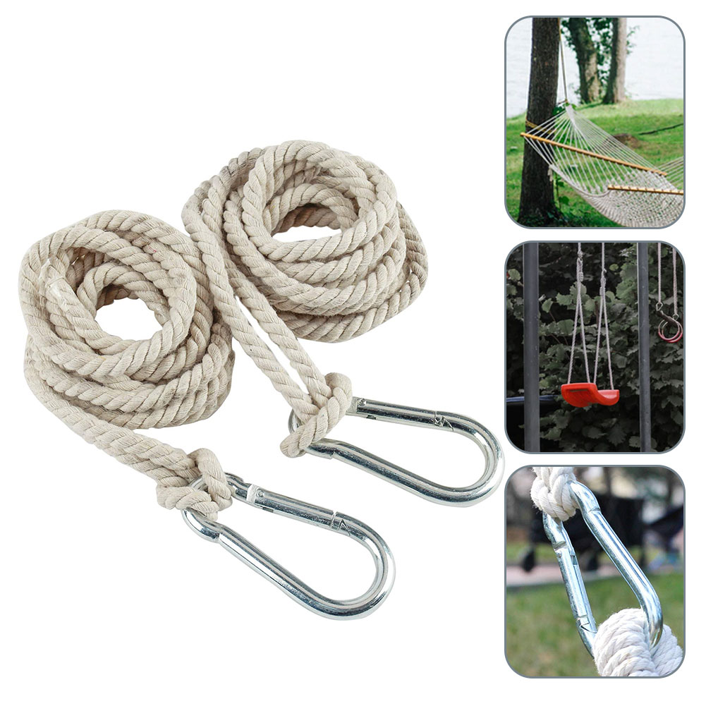2PCS Tree Swing Straps Hammock Cotton Hanging Rope Adjustable Swing Hooks Strap Garden Accessories Outdoor Family Camping