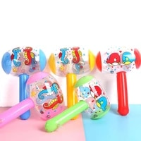 cartoon inflatable hammer air hammer with bell random color wholesale kids blow up noise maker toys