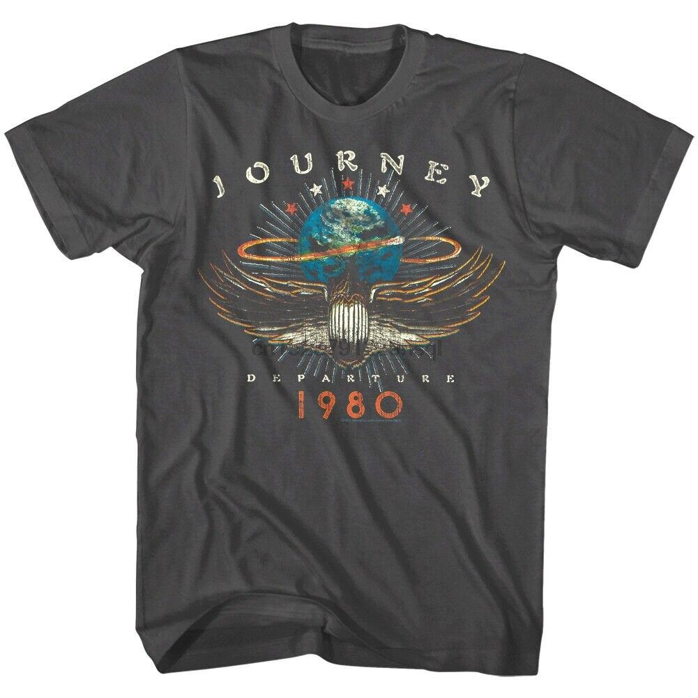 Journey Departures Album Tour 1980 Men T Shirt Rock Band Vintage Concert Merch