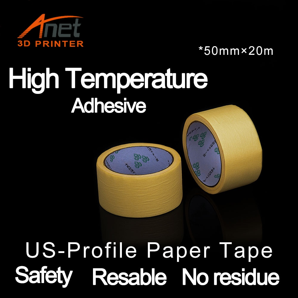 Запчасти для 3D-принтера, нагревательная платформа для 3D принтера, текстурированная высокотемпературная Маскировочная клейкая бумага, стой...