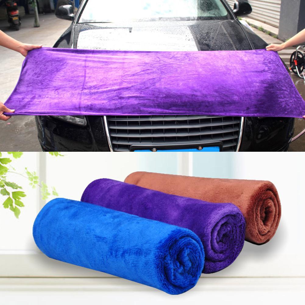 50% HEIßE VERKÄUFE!!! 400GSM Mikrofaser Weiche Verdicken Auto Waschen Tuch Wasser Absorption Reinigung Handtuch