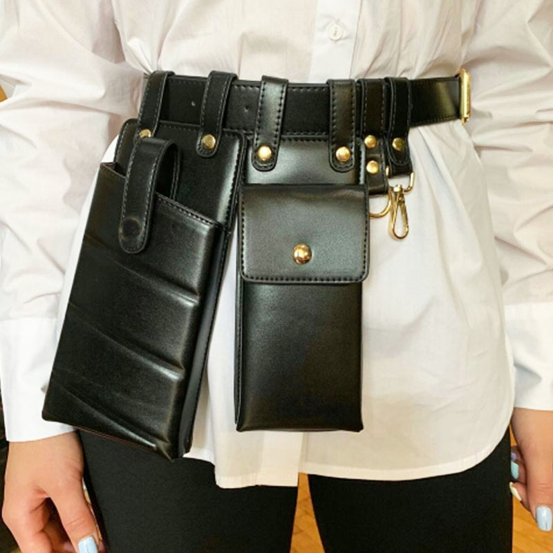Women Waist Pack Leather Fanny Pack Luxury Women Belt Bag Crossbody Bags For Women Casual Chest Pack