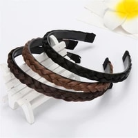 2021 new 1pc vintage twisted wig headband for women wedding hair bands hairband plaited braided hair accessories hot sale