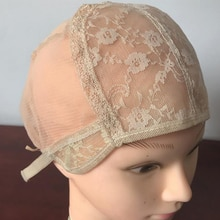 Blonde Lace Wig cap for making wigs with adjustable strap Double Lace weaving cap glueless wig caps