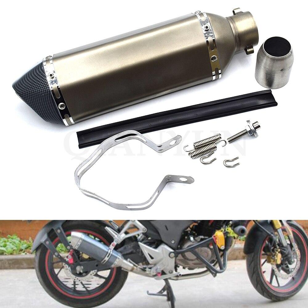 Tubo de escape de motocicleta modificado Universal de 38-51mm, silenciador para Kawasaki ZX-6 ZZR600 ZXR400 Z750S ER-5 ZR750 ER6N ER6F
