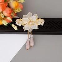 korean style hair clips for women retro crystal flower hairpin light luxury fashionable elegant hair accessories women jewelry
