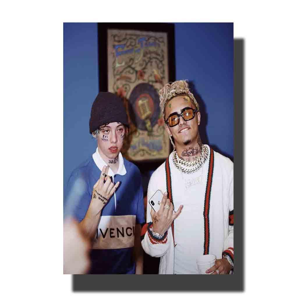 Z83 Lil Pump Li Xan Rap cantante de música Hip Hop cartel tela arte pintura 14x21 24x36 impresión Decoración habitación pared cuadro