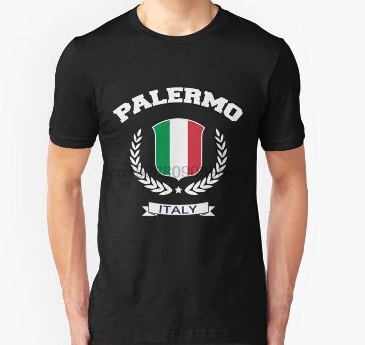 Hombres camiseta Palermo Italia T camisa Slim Fit T camisa mujeres camiseta top