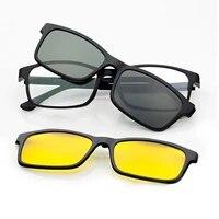 super light eyeglasses full frame glasses for men magnet 3d clip sunglasses myopia matte black polarized with hook nvgs 3d lens