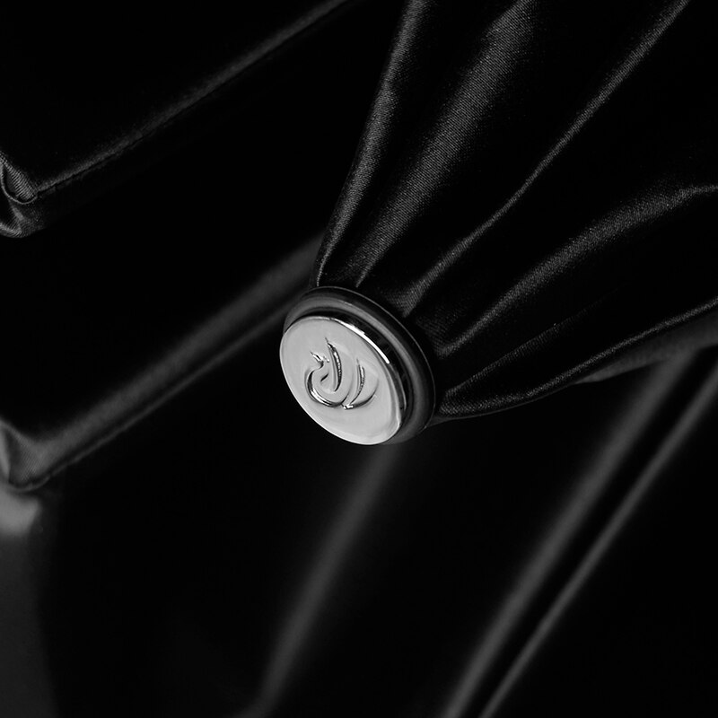 Vintage Windproof Luxury Rain Umbrella Men Lion Handle Three Folding Black Umbrella 8 Ribs Rain Umbrella Outdoor Gift Box U5B enlarge