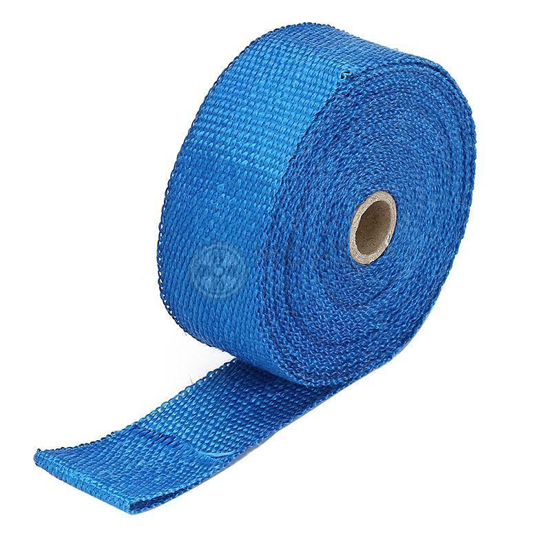 Tissu isolant ignifuge en fiber de verre   Tuyau déchappement bleu 5M