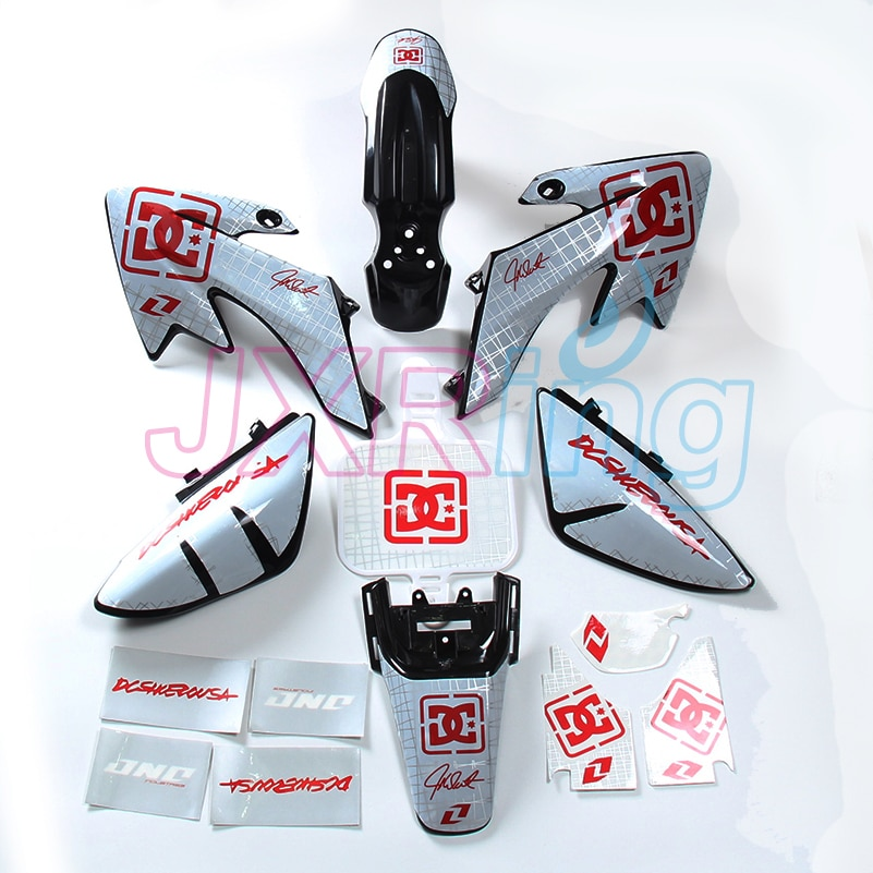 KIT de pegatinas gráficas CRF50 XR50 SDG SSR Pro 50cc 110cc 125c, kit de plástico para guardabarros y 3M, KIT de pegatinas para bicicleta Dirt Pit estilo crf50