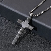 vintage christian christian stainless steel cross necklace for mens chain gothic crucifix jesus pendant and necklace jewelry