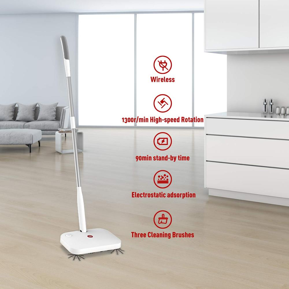 Eyliden Hardwood Floor 360 Electric Sweeper Cordless Rechargeable with Rotating Brushes Flexible Dust Cleaning Broom enlarge