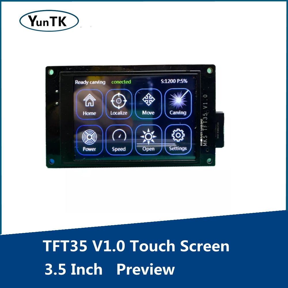 TFT35 V1.0 Touch Screen Driver, 3.5 Inch 3D Printer Parts, Preview, G-Code GRBL Offline