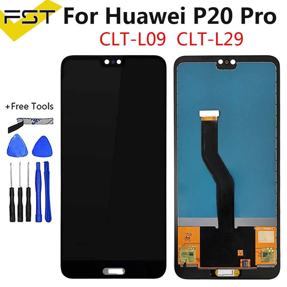 TFT עבור Huawei P20 Pro LCD תצוגה + מסך מגע Digitizer עצרת החלפה עבור Huawei P20Pro CLT-L04 CLT-L09 CLT-L29