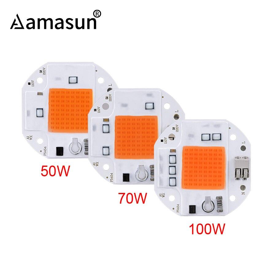 Chip COB LED sin soldadura de 100W 70W 50W para cultivo de plantas, tienda de campaña 220V 110V luz LED de cultivo, lámpara LED de Fito de espectro completo