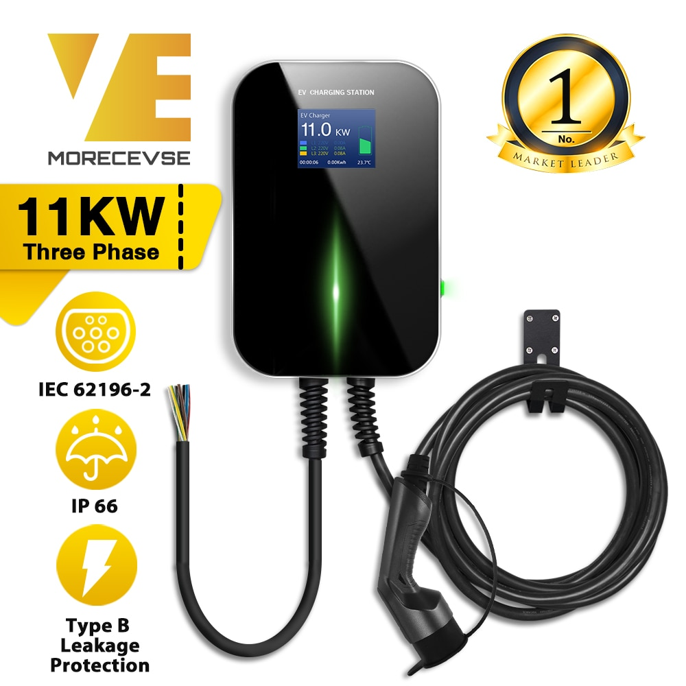 AliExpress - EV Charger Electric Vehicle Charging Station EVSE Wallbox with Type 2 Cable16A 3Phase IEC 62196-2 for Audi Mercedes-Benz, Smart