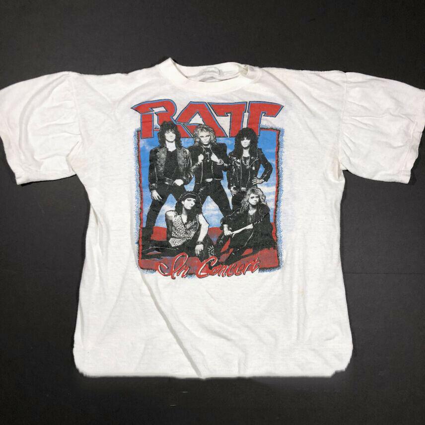 Camiseta de algodón de manga corta para hombre, Reimpresión 1988 Ratt Band, color blanco S 4Xl C297