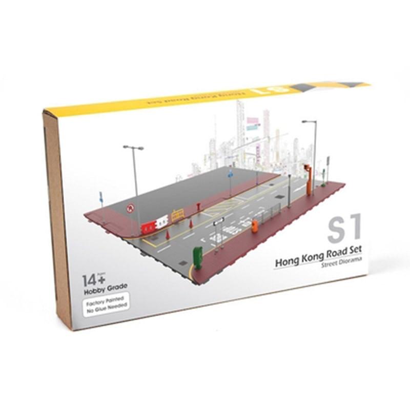 1/64 realistic simulation scene set platform street model block model car assembly Accessories parts Booth Decorative display
