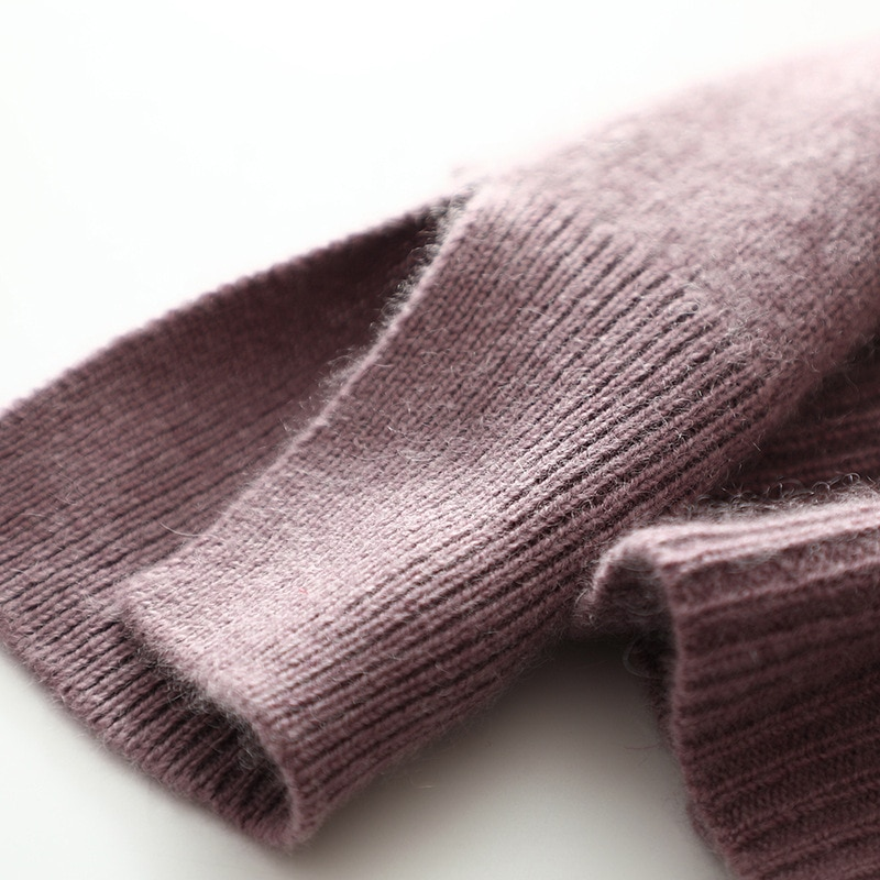 SHUCHAN Knitted Cardigan 30% Cashmere+70% Wool Single Breasted V-Neck Vintage Spring/Autumn Sweater Women 2021 enlarge