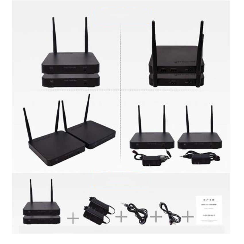 100M Wireless HDMI Extender 2.4GHz/5GHz 1080P Wifi HDMI 1.3 Audio Video Sender Transmitter Receiver With IR Support HDCP1.4 HDTV enlarge
