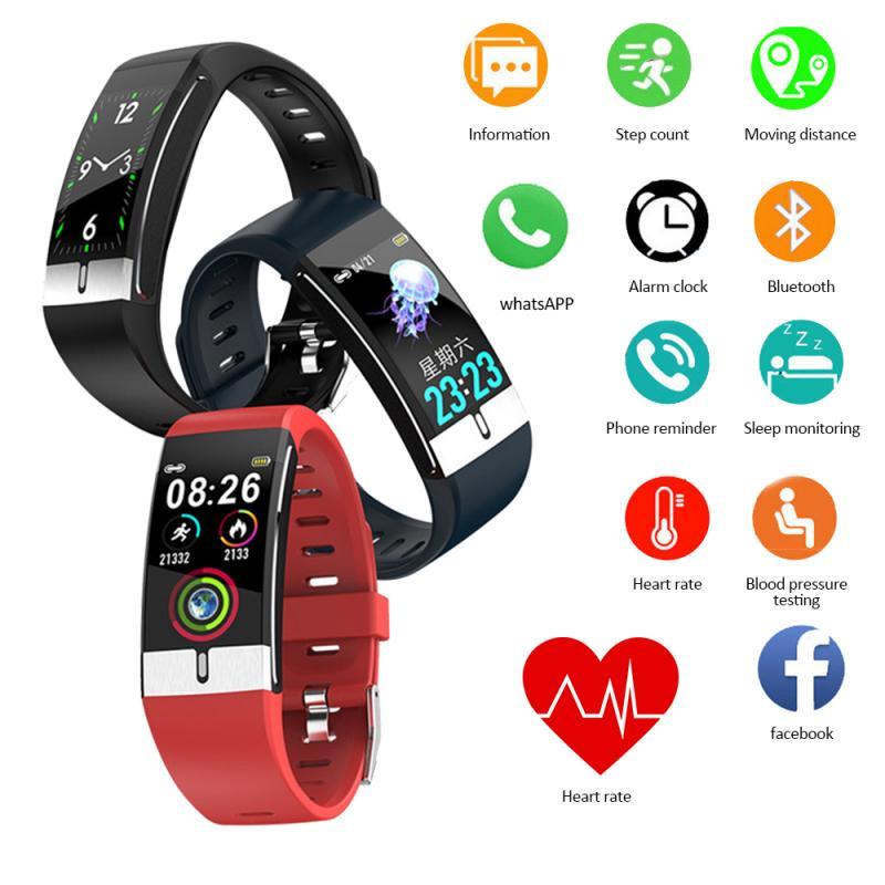 E66 Smart Watch Waterproof Smartwatch ECG FitnessTracker Multi Sport Modes Band Heath Monitor Smart Watch For Android iOS