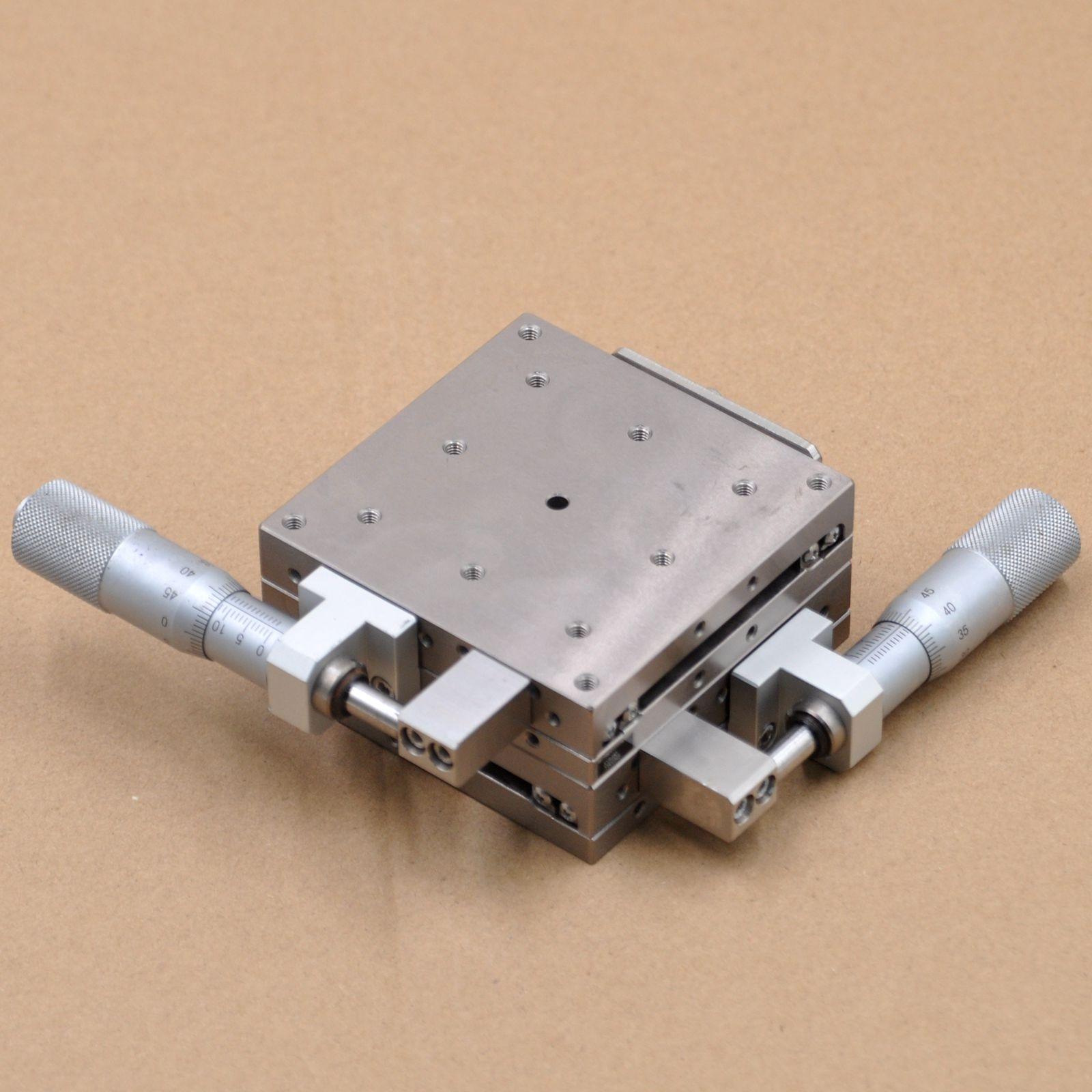 XY axis Misumi XYSG80 optical manual mobile platform high precision linear ball guide rail sliding table steel 80 * 80mm