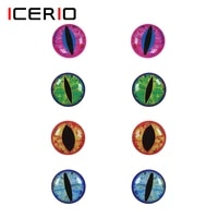 icerio 100pcs 3d fish eye holographic dragon eye fly tying material for streamer popper sculpin helmets fish masks and baitfish