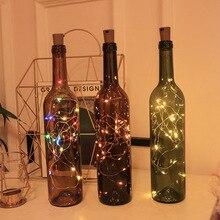 Guirlande lumineuse en fil de cuivre 1m 2m 3m   Guirlande décorative de noël pour la maison, bouchon de bouteille pour artisanat en verre, décoration du nouvel an
