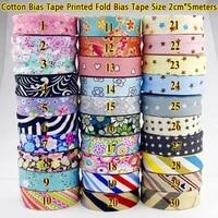 100 cotton bias tape printed size 20mm34 5meter printed flowers good material bias binding tape diy sewing