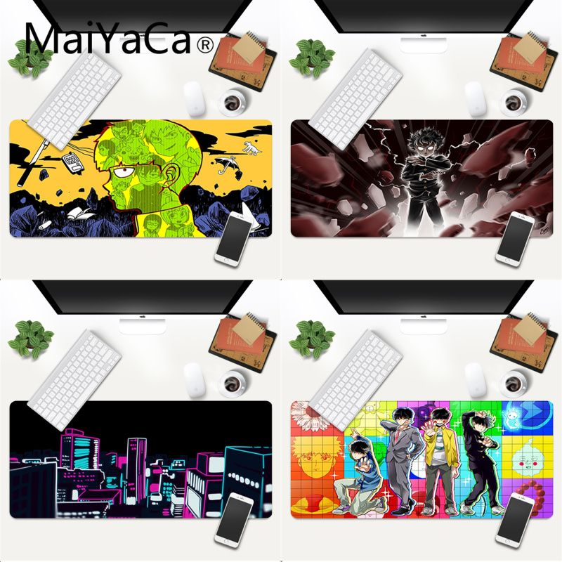 MaiYaCa Mob Psycho 100 mouse pad gamer play mats XXL Mouse Pad anime Laptop Desk Mat pc gamer completo for world of warcraft maiyaca 2018 new persian rugs mouse pad gamer play mats size for 180x220x2mm and 250x290x2mm small mousepad