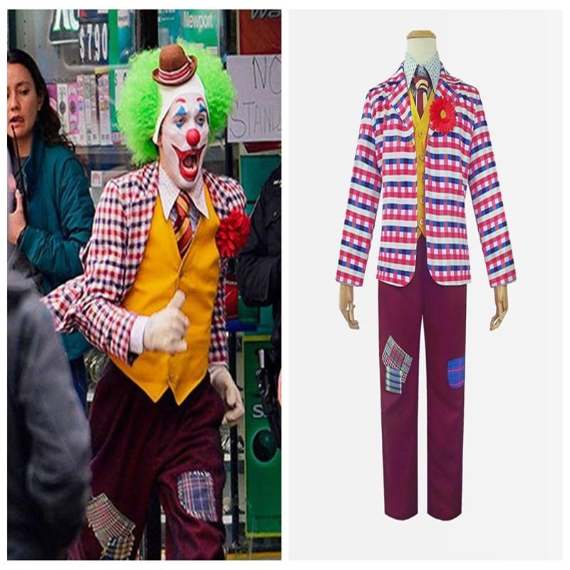 2019 nuevo la película cosplay Joker Joaquín Phoenix personaje traje ropa de lino de alta calidad Halloween maquillaje fiesta actuación