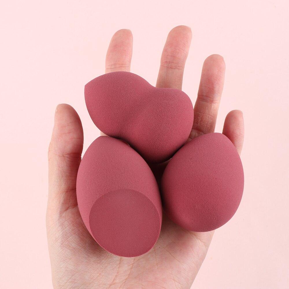 3 uds Multi-color gota de agua maquillaje esponja Puff polvos y base para la cara crema esponjas para mezclar cosméticos maquillaje herramientas Multi-color