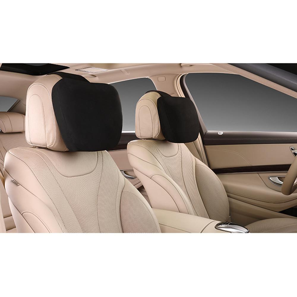 Para todos os veículos carro travesseiro camurça tecido confortável pescoço suporte para mercedes benz universal
