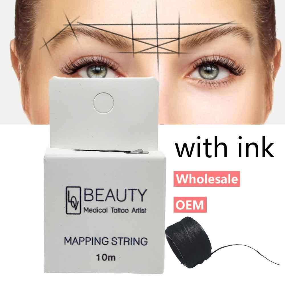 Картографическая пре-чернильная струна для микроблейдинга eyebow Make Up dying Liners Thread Semi Permanent позиционирование бровей измерительный инструмент