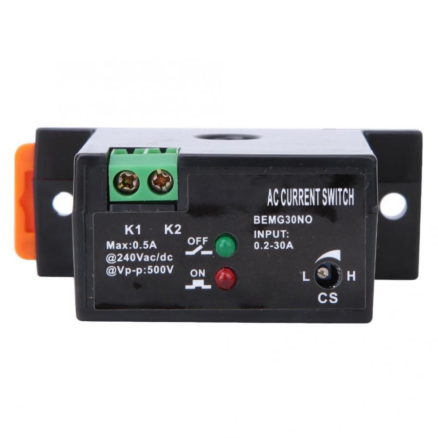 Interruptor de detección a prueba de llamas de corriente ajustable AC 0,2-30A Sensor Swtich 0.5A12-240VAC/CC interruptor de detección autoalimentado normalmente abierto